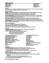 Sample Mechanical Design Engineer Resume Mechanical Design Engineer