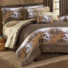 image of cabin bedding hunting