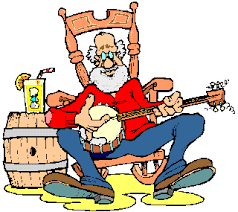 rocking chair clipart. Funny Old Man Rocking Chair Clipart V