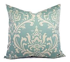 cream decorative pillows. Unique Decorative Blue And Cream Throw Pillow Cover In Custom Sizes  Damask Decorative  Sham Spa With Pillows K