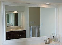 mesmerizing framing a bathroom mirror white framed