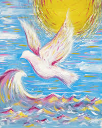 Dove of Peace Painting by Jaime Lynne Dillon