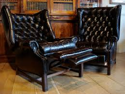 sold 20c reclining leather library chairs to zoom