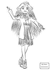 Coloring Pages Descendantsoring Pictures Authentic Pages Mal Evie