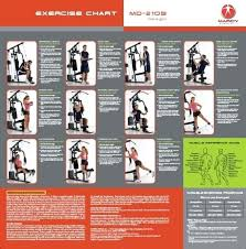 Multi Station Home Gym Exercise Chart Border Tiles For Bathroom Ervelab Co