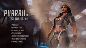 Pharah from Overwatch for Blender 280 Ücretsiz 3D Model in Kadın 3DExport
