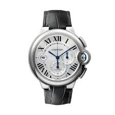 cartier ballon bleu automatic silver dial stainless steel black leather mens watch w69016z4 chronograph available at diamond source nyc