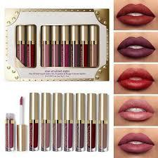 <b>8pcs</b>/<b>set</b> Women <b>Matte Shimmer Liquid</b> Lipstick Waterproof Long ...