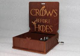 Engraved Wooden Music Box Game Of Thrones Crows Before Hoes Engraved Wooden Music Box Game Of 18