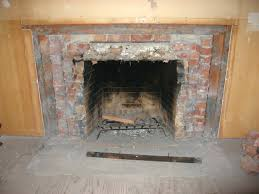 replacing fireplace brick panel remove cost mortar repair ed