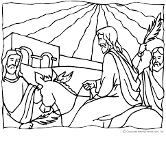 Small Picture Jesus Palm Sunday Coloring Page