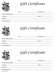 Gift Certificate Sign Gift Certificate Template Form Fill Out And Sign Printable Pdf