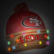 49er Lights Forever Collectibles Nfl San Francisco 49ers Camo Light Up Knit Hat