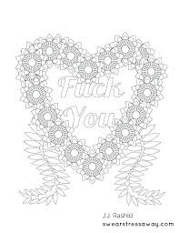 Swear Word Coloring Pages Printable Swear Word Coloring Pages Free