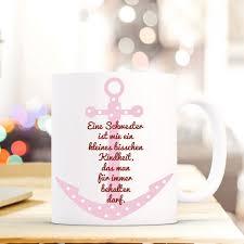 Tasse Becher Mit Anker Spruch Schwester Kindheit Geschenk
