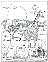 Free Printable Coloring Pages Safari Animals Wild Animals Coloring