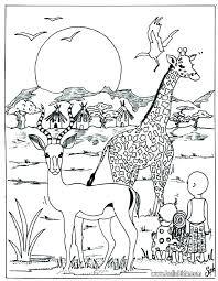 Free Printable Coloring Pages Safari Animals Wild Animals Coloring