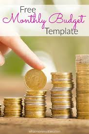 Free Sample Monthly Budget Templates - What Mommy Does
