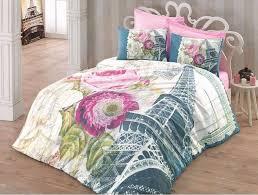 paris comforter set full size fresh 3d eiffel tower cotton paris bed set doona quilt