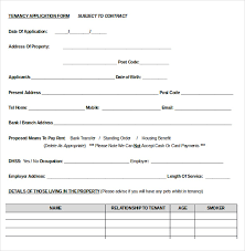 rent application form doc 10 word rental application templates free download free premium