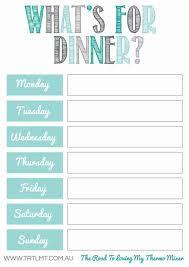 Printable Weekly Dinner Menu Whats For Dinner 2 Fb Meal Planner Printable Meal