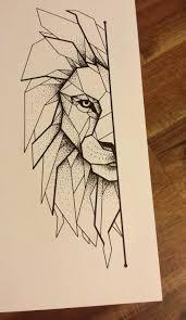 Pin Uživatele Z Ft Na Nástěnce Drawing Tetování Lva Geometrické