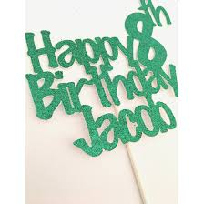 Custom Happy Birthday Cake Topper Kids Birthday Cake Topper Boy