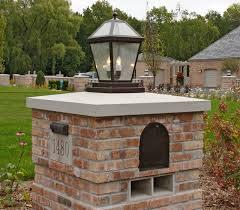 driveway light posts solar lights driveway columns brick mailbox