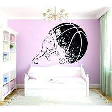 basketball wall decals girl player decal sport vinyl sticker home mural size silhouette murals dec