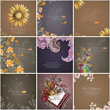 Free Floral Backgrounds Floral Dark Backgrounds Free Set Vector Free Download