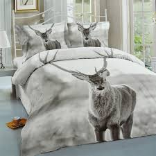 hotel quality 100 polyester luxury duvet cover set pillow case bedding single double king size home bedroom décor stag single 135x200cm flubit