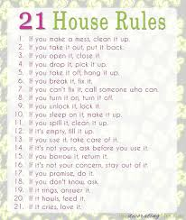 house rules picmia family house rules these rules are simple straightforward and get right to the point