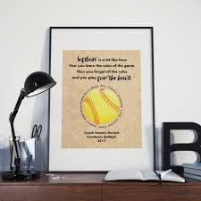 softball coach gift ideas play from the heart softball e print