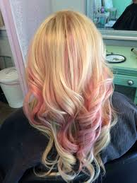Pink Highlights In Blonde Hair Yes