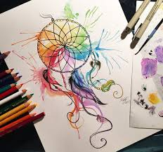 Colored Dream Catchers Impressive Colorful Dreamcatcher Drawing At GetDrawings Free For Personal