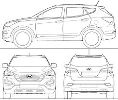 Hyundai car drawing clipartxtras