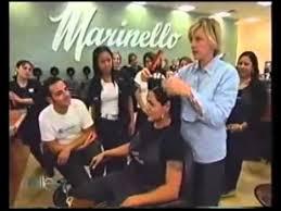 Ellen Degeneres Reinventing The Bowl Cut At Marinello Schools Of Beauty Burbank