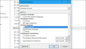 Microsoft Word Vocabulary How To Stop Microsoft Word From Underlining Contractions As Errors