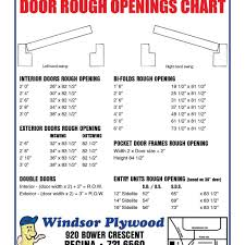 Door Rough Opening Chart Closet Bifold Door Rough Opening In 2019 Prehung Interior