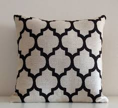 black and cream pillows. Beautiful Black Black And Cream Pillow Cover Moroccan Pillow Throw Pillows Modern  Trellis Quatrefoil  And Pillows