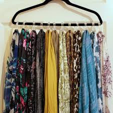 i had my scarves on hangers but i dont know how i never thought of using those shower curtain rings ive seen them in packages of 12 for 1 40