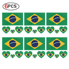 RUNFON 6 X Fahne Tattoo Brasile Calcio Fans Bandiera Adesivi Sport e tempo  libero Calcio nsb-group.com