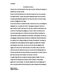 childhood memories essay co childhood memories essay