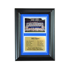 wall mounted picture frame for 5x7 and engraving plate for team award