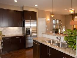 kitchen wall colors with brown cabinets