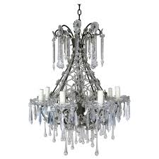 french louis xv style crystal chandelier circa 1940s