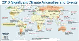 Significant Weather Charts Explained Noaa Charts Earths Major Climate Events Anomalies In 2013
