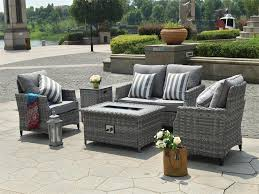 direct wicker sofa set with gas fire