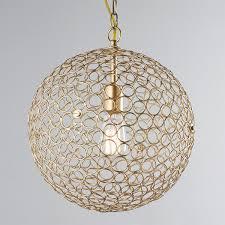 sphere pendant light. Circles Sphere Pendant Light - Small Gold S