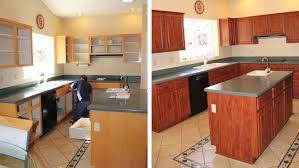 cabinet refacing before and after how do you reface kitchen cabinets
